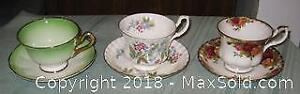 Lot of 3 Royal Albert Cups and Saucers (#1)