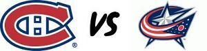 CANADIENS VS COLUMBUS CLUB MARDI LE 28 FÉV(2x224B-2x209B)