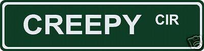 Creepy Circle Street / Road Name Sign!  6
