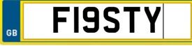 FIESTY number plate