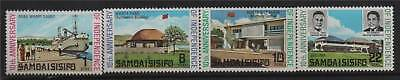 Samoa 1972 10th Anniv Independence SG 378/81 MNH