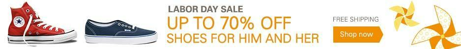 Up to 70% Off Shoes For Him and Her