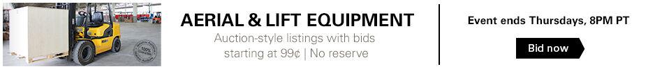 99¢ No Reserve Lift Equipment