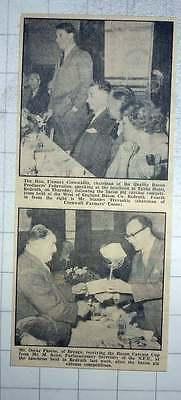 1960 Mr Oscar Pascoe Breage Receiving The Bacon Carcass Cup, Fienne Cornwallis