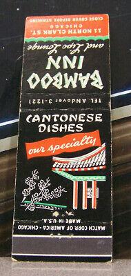 Usado, Vintage Matchbook C4 Chicago Illinois Bamboo Inn Cantonese Specialty Lipo Lounge comprar usado  Enviando para Brazil