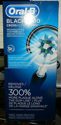 Braun ORAL-B Black 1000 CrossAction Rechargeable Toothbrush 3D Action