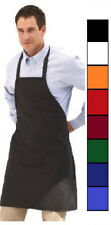 12 NEW SPUN POLY CRAFT / COMMERCIAL RESTAURANT KITCHEN BIB APRONS