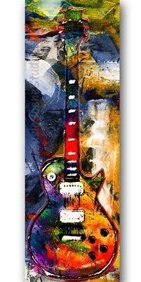 Guitar Art, Pop Art Canvas, Electric Guitar Art, Guitar Room Decor, Pop Wall Art (Electric Guitar Decorations)