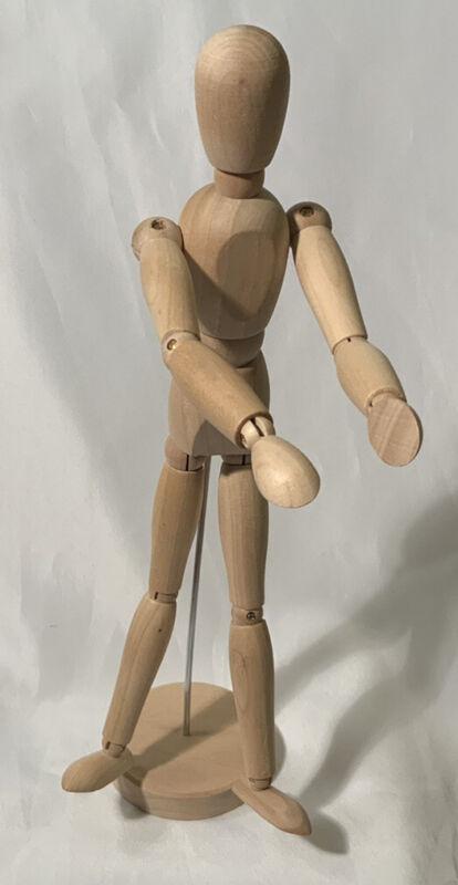 "Ikea Gestalta Artist's Posable Jointed Figure Natural Wood 13"" NWT"
