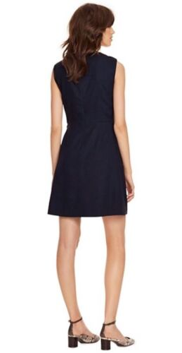 NWT Tory Burch STRETCH SUITING DRESS 20156414 MED NAVY Size 10