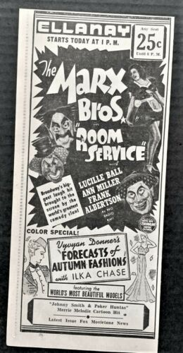 1938 Marx Brothers movie advertisement - Original