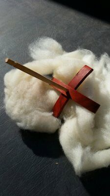 Hand Turned  Padauk Turkish  whorl spindle