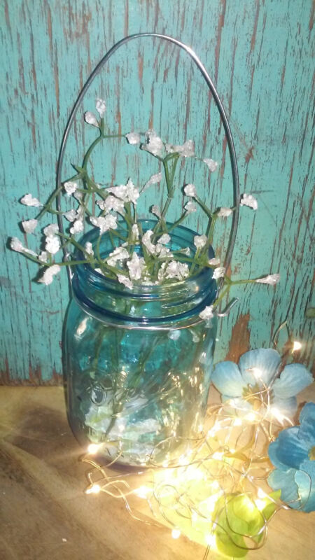 12 Silver mason jar handles / hangers Fairy lights not included Reg mouth jars