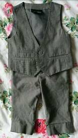Next Boys Waist Coat & Altered Trousers, Size 6-9 Months.