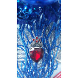 Disney Descendants Evie inspired Red Heart Necklace Crown Heart Necklace Mal