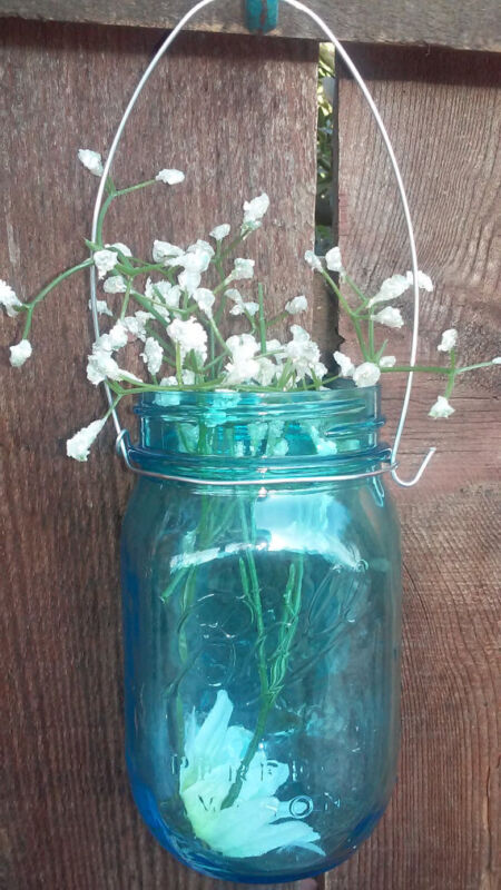 12 SILVER DIY WIDE MOUTH  Wire hangers for Mason Jar Hanger for mason jar handle