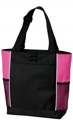 Port Authority Panel Tote Bag; Red and Black; Pink and - Port Authority Panel Tote