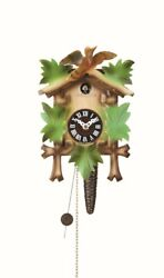 Quarter call cuckoo clock with 1-day movement Five leaves, bir.. TU 619 bunt NEW