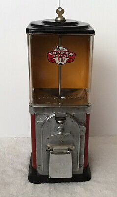 Restored 1950's Victor 1 Cent Half Cabinet Gumball Machine