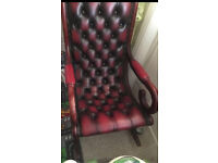 Antique chesterfield rocking chair