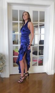 Purple Halter Grad Dress/ Cocktail Dress