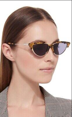 Karen Walker Tropics Sunglasses   Tortoise Shell, Semi Rimless, Cat Eye $380 RRP
