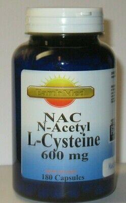 NAC N-Acetyl L Cysteine 600 mg - 180 Capsules  Freshest