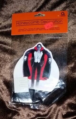 Great Vintage NIP Amscan Dracula Halloween Honeycomb Die Cut Decoration