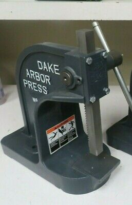 Dake Y Single Leverage Arbor Press 1-12 Ton Stroke Inches 7.75 - 1 Unit