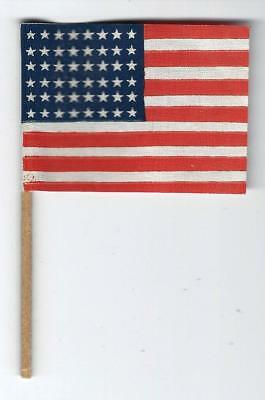 VINTAGE 1940s 48 STAR MINI U.S. FLAG ON A STICK