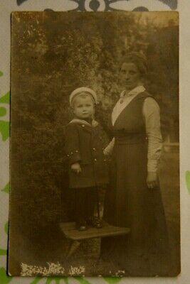 Foto 1916 Junge Marine Uniform Mütze 1WK woman Frau Y1 ()