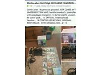 Xbox 360 250gb slimline and all GENUINE accessories