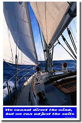 We cannot direct wind MOTIVATIONAL Sailing Print POSTER