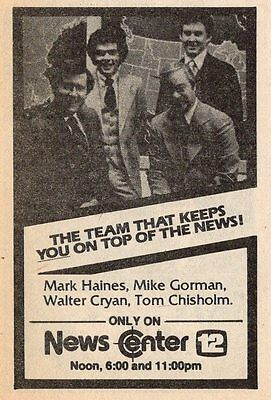 1979 Wpri Tv News Ad Mark Haines Mike Gorman Walter Cryan Tom Chisholm