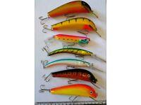 7x Large fishing baits lures new joblot pike salmon