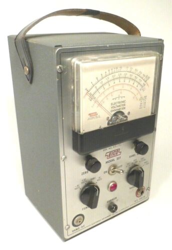 vintage EICO 221 -- ELECTRONIC  VOLTMETER & OHMMETER  Tested & Working