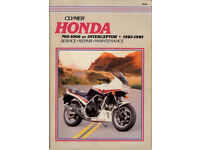 CLYMER (NOT HAYNES) HONDA INTERCEPTOR SERVICE & REPAIR MANUAL FOR 1983 - 1985 MODELS