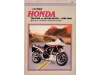 CLYMER (NOT HAYNES) HONDA INTERCEPTOR SERVICE & REPAIR MANUAL FOR 1983 - 1985 MODELS