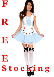 Alice-in-Wonderland-Ladies-Fancy-Dress-Costume-XS-S-M-L