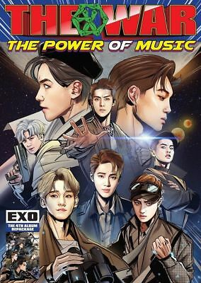 EXO [THE WAR:THE POWER OF MUSIC] 4th Repackage Album KOREAN CD+Comics+Cards+etc