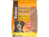 2 bags of Webbox 12kg chicken dry dog food
