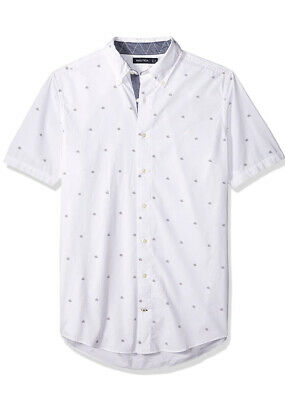 NWT Nautica Men's Big and Tall Classic Fit Long Sleeve Print Size 4XLT