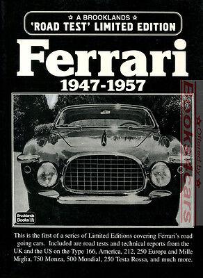 FERRARI BOOK V12 PORTFOLIO BROOKLANDS ENZO 1947-1957