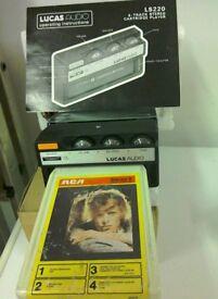 New Lucas Audio 8 tracks Stereo Cartridge player.