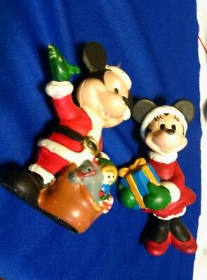 Mickey and Minnie Mouse Christmas ornaments Walt Disney Co.3 1/2
