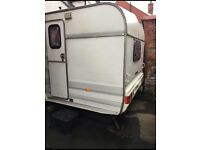 Large caravan ready to enjoy, fully integrated cooker fridge toilet and stereo sound system.