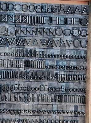 Bleischrift 13,5 mm Bleisatz Buchdruck Handsatz Bleiletter Steckschrift Lettern