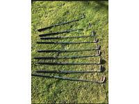 Set of Ten Taylor Made golf clubs