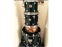 Yamaha oak blue drum kit