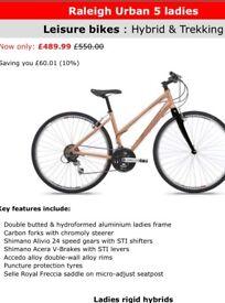 Woman's Raleigh bike , original price £550